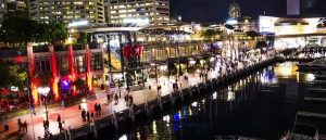 darling harbour sydney panorama 300x129 - Shopping i Darling Harbour